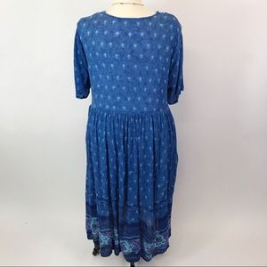 Chelsea Studio Dresses - Chelsea Studio Guaze Blue  print dress 24